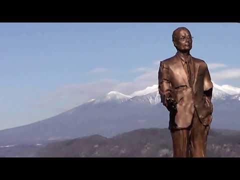 Mt.yatsugatake・Satoshi  Omura bronze statue・Happiness  Walk