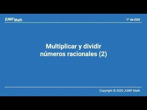 1. Unidad 9. Multiplicar y dividir números racionales II