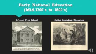 History of Education in the United States of America