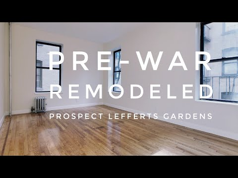 Pre-War Large 1 Bedroom Apartment In Prospect Lefferts Gardens! Video Tour NYC Brooklyn NY