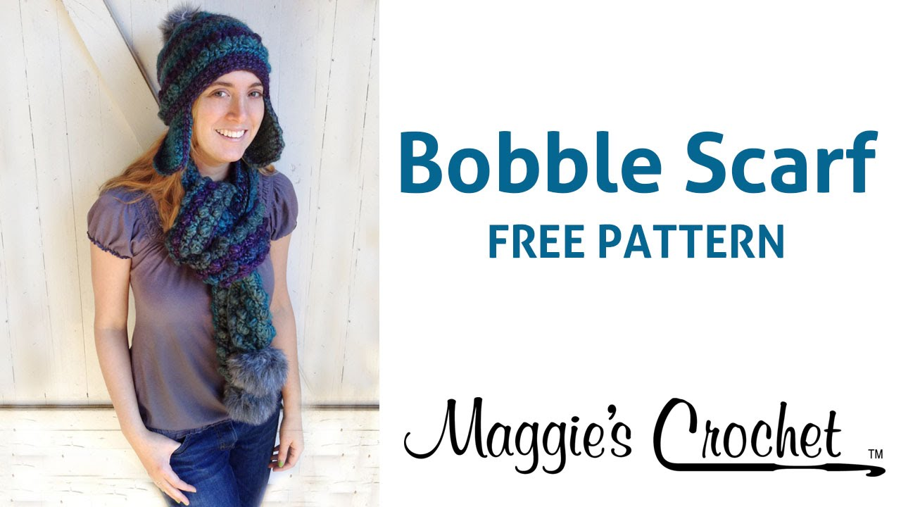 Deborah Norville Saturate Bobble Scarf Free Crochet Pattern Right