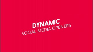 Dynamic Social Media Intro Motion Graphics Templates