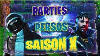 [LIVE/FR] FORTNITE PARTIES PERSO TENTE DE GAGNER TON PASS DE COMBAT @CREATEUR: chelmito1980