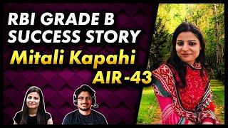 RBI Grade B Success Story MITALI KAPAHI (Selected in RBI GRADE B 2019)
