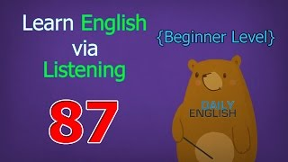 Learn English via Listening Beginner Level | Lesson 87 | Television