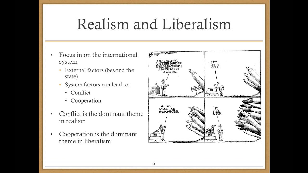 liberalism vs realism essay The theories that this essay will look at are realism and liberalism benjamin r barber's 'jihad vs mcworld' liberalism and realism author: author.