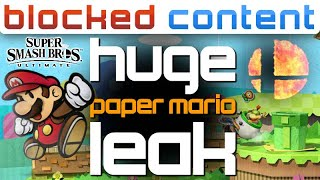 HUGE Paper Mario LEAK + Smash Bros. Ultimate NEWCOMER?! - LEAK SPEAK!