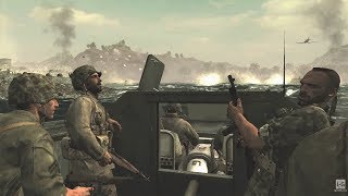 WW2 - Battle of Peleliu - US Army Takeover of Peleliu - Pacific War - Call of Duty World at War