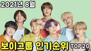 2021년 8월 보이그룹 인기순위 브랜드평판 TOP20 _ August kpop boy group popul…