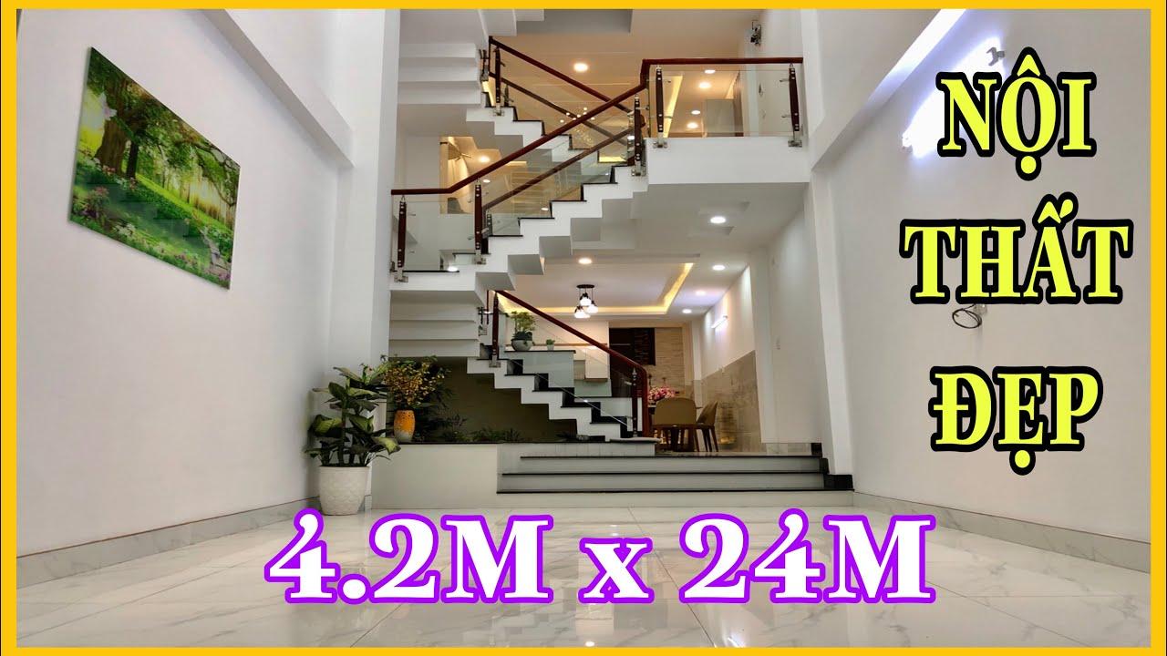 Bán Nhà Gò Vấp( 179 )4.2m x 24m nhà đẹp 4 lầu có GARA XE HƠI riêng HXH 6M sát Thống Nhất 6.3 tỷ