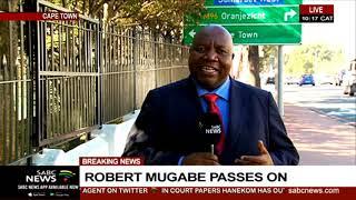 Robert Mugabe I President Mnangagwa leaves WEFA for Zimbabwe