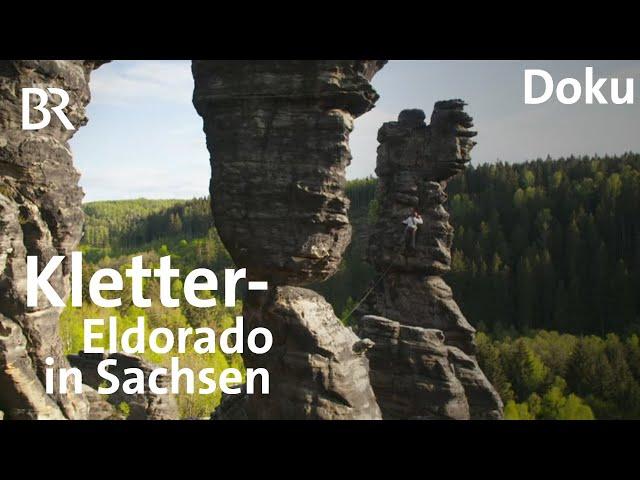 Klettern in Sachsen: Zwei Bayern im Elbsandsteingebirge | Bergauf-Bergab | Doku | BR