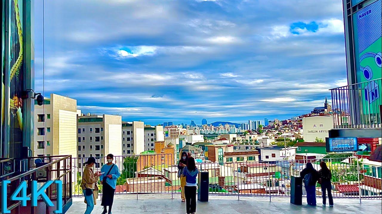 [4K SEOUL] Walk Seoul Korea  한남동  Hannam-dong scenery where autumn started (Binaural City 3D Sounds)