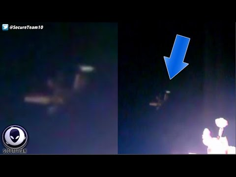 WHAT Is That! Alien Tripod UFO Next To Space Station 10/24/1