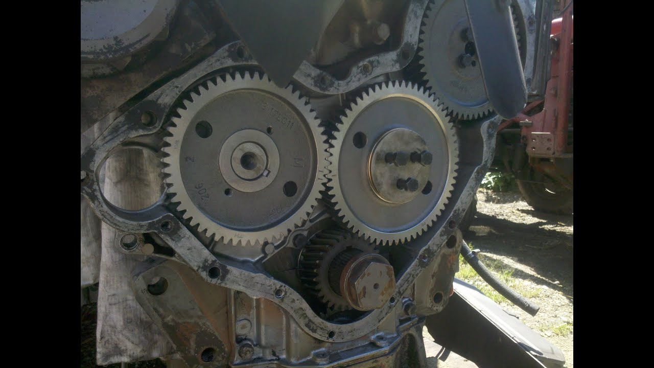 MF 590  Timing Case reassembly & timing the gears  part