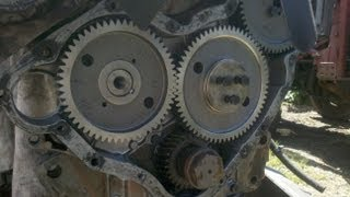 MF 590 - Timing Case reassembly & timing the gears - part 12