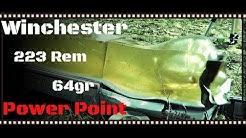 Winchester Ranger 223 Rem 64gr Power Point Ammo Ballistic Gel Test (HD)