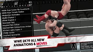 WWE 2K19 All NEW Moves & Move Animations (200+ Finishers)