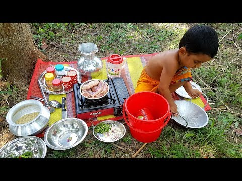 Delicious Hilsa Fish Eggs Cooking By 4 Years Baby Sneyha – Kids Picnic Of Elish Fish Eggs Curry
