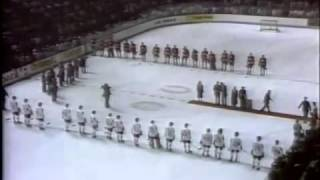 USSR and Canada Anthem Jan Rubes 1981 Canada Cup Start