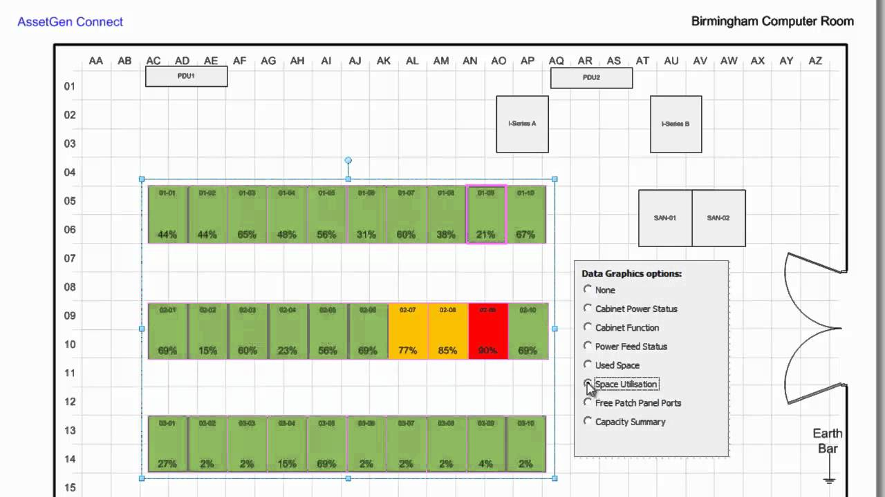 Data Center Planning : Automating visio data center floor plans with assetgen