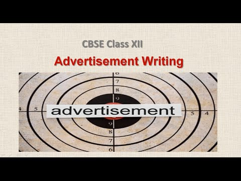 Advertisement writing - CBSE Class XI and Class XII