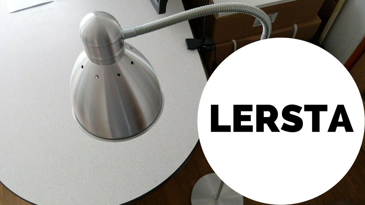 fbe9ed3d0285 IKEA's LERSTA Aluminum Floor/Reading Lamp Assembly - YouTube