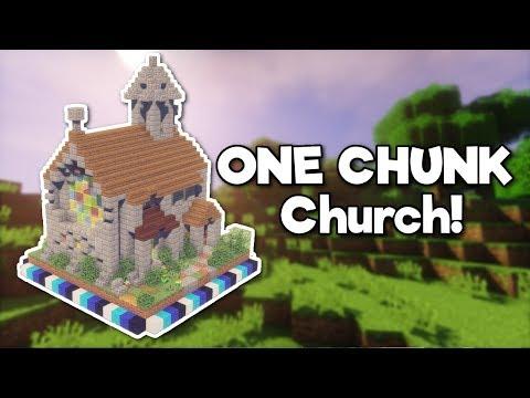 Minecraft: Medieval Church in ONE CHUNK! [Tutorial]