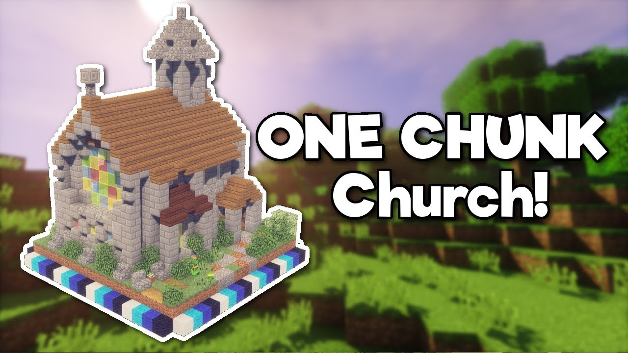 Minecraft Medieval Church In One Chunk Tutorial Youtube