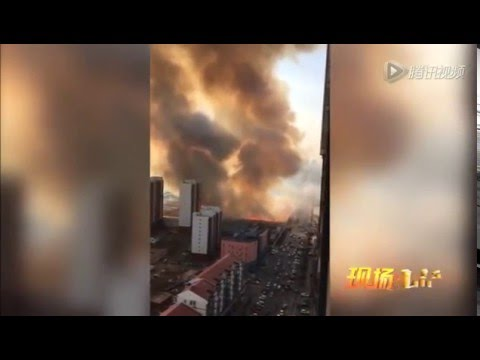 Gas tank truck exploded for 5 times in Tianjin on Jan 5