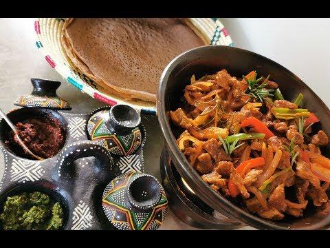 Tibs Delicious roasted beaf Ethiopian cuisine ቆንጆ ባለመረቅ ጥብስ