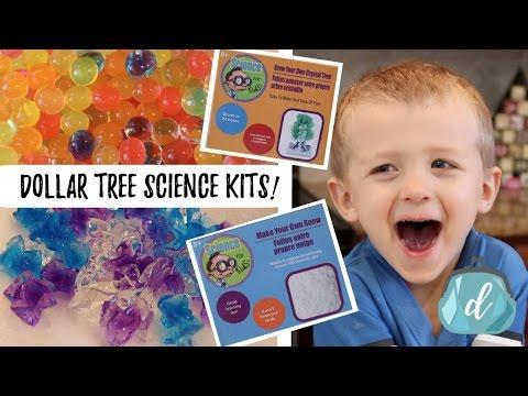 Dollar Tree Science Kits! | Orbeez, Crystals, & Slime-y Stuff