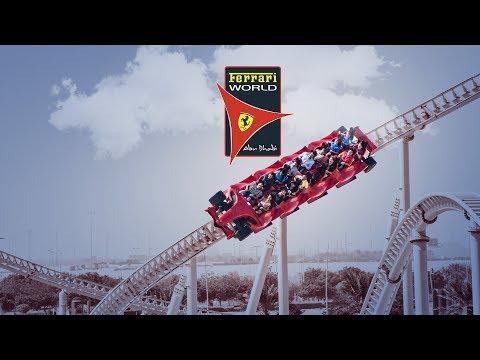 Ferrari world abu dhabi roller coaster | ferrari world rides #abudhabi