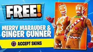 How to get the MERRY MARAUDER Skin in Fortnite FREE! Gingerbread Man Skin (Season 5 Gifting System)