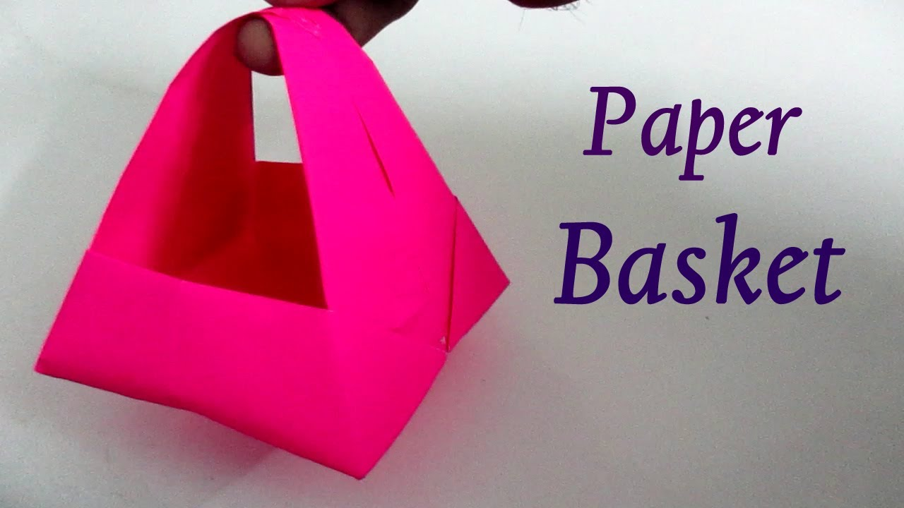 Paper basket how to make a paper basket with handle youtube sciox Gallery