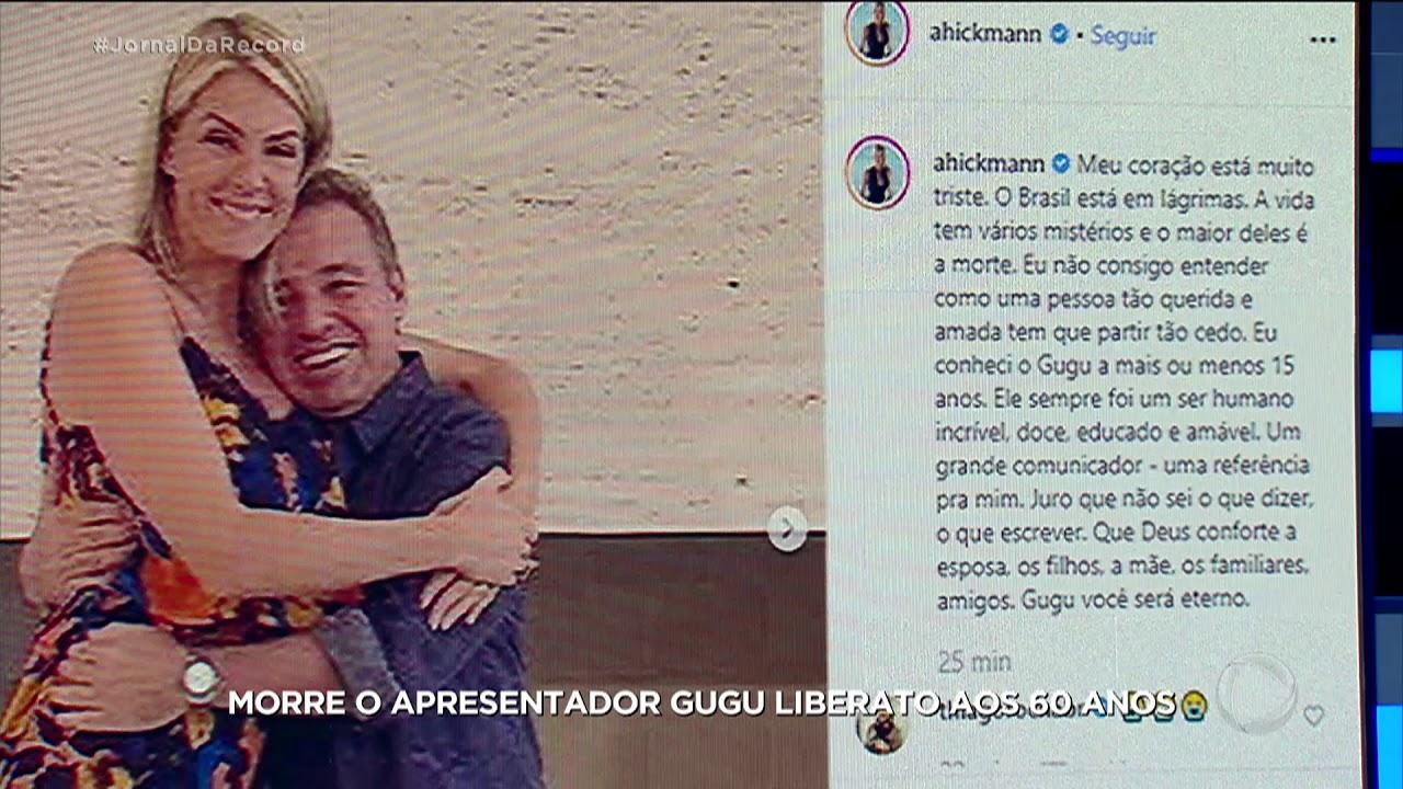 Famosos usam as redes sociais para lamentar a morte de Gugu Liberato