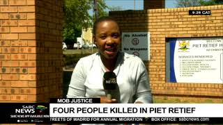 4 people including a police officer killed in Piet Retief