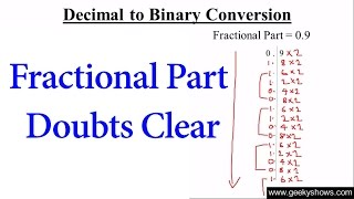 Conversion decimal to binary online