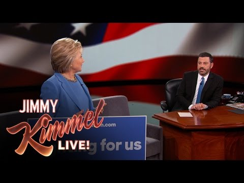 Jimmy Kimmel Mansplains to Hillary Clinton