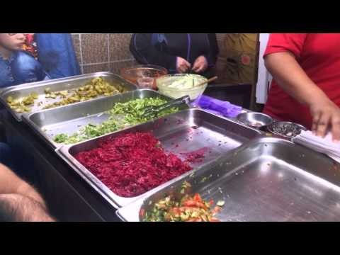 Street food. Jerusalem, the old city. Local foodan