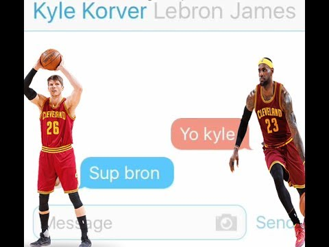 Lebron Texting Kyle Korver After Re-Signing With The Cavs