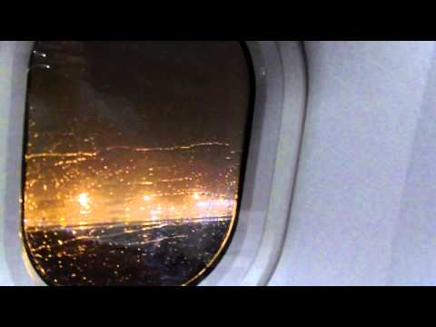Air China A340 First Class Night Takeoff PVG to CAN