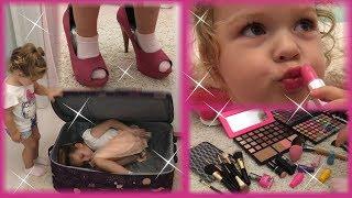 NEVIĐENO! Sve je u koferu - Mamina Šminka, Lakovi, Štikle, Haljine i LENA!!!