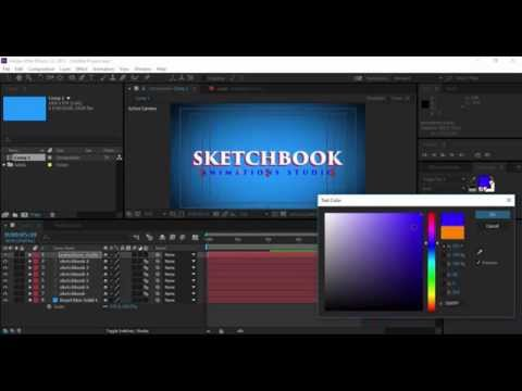 After Affect CC 2015 Tutorial Amazing 3D Text Effect in Flying behind  the camera