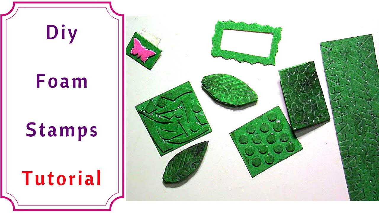 Diy Personalized Stamps With Foam Very Easy Tutorial