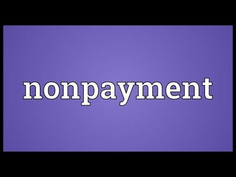 Header of nonpayment