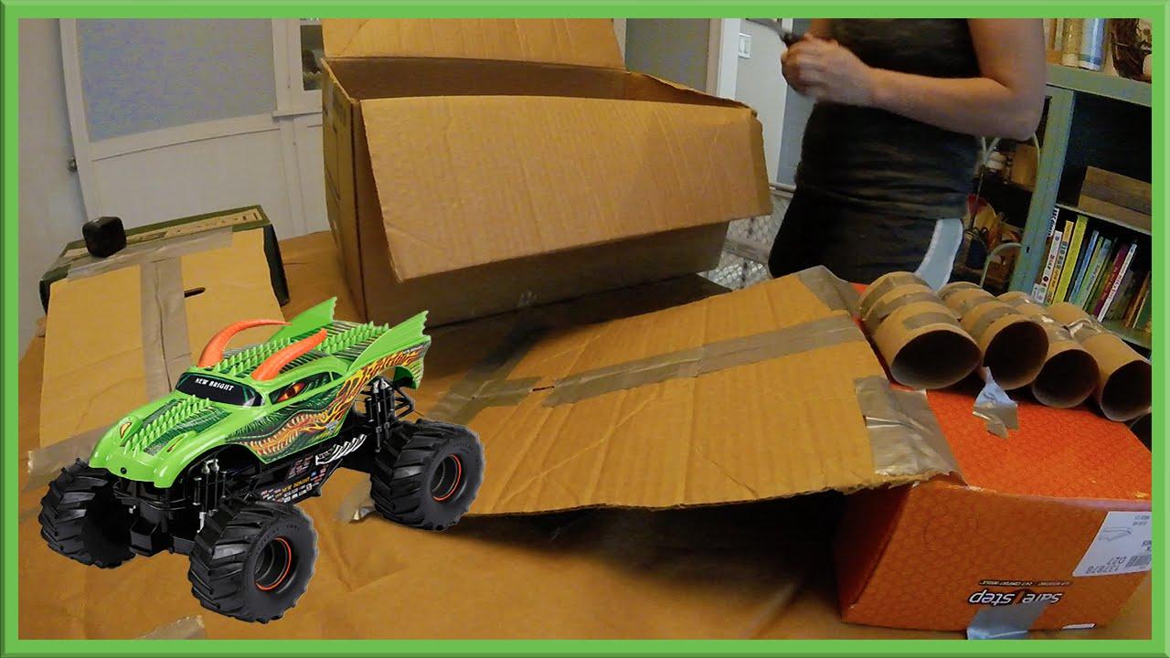 Homemade Toy Monster Truck Arena