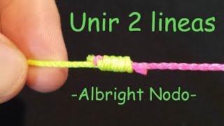 Albright Nodo Unir dos lineas paso a paso   Nudos de Pesca