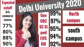 Expected cutoff of Delhi University 2020|Arts|commerce|science|Admission.
