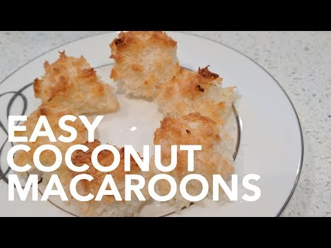 Easy Coconut Macroons Recipe || Gastrofork.ca